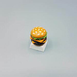 Double Cheese Burger Keycap Handmade Resin Custom Artisan