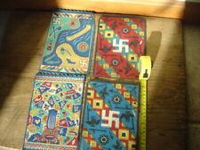 Four Rare Antique Vtg Tobacco Felt/Flannel Colorful Flags 8-1/4� x 5-3/4�