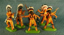 2000's Wild West Britains Indians Super Deetail Toy Figures Lot (6)