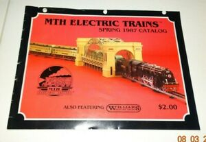 MTH ELECTRIC TRAINS Spring 1987 Catalog 20 pages