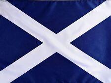 "18 x 12"" POLYESTER SCOTTISH SALTIRE ST ANDREWS NAVY BLUE FLAG OF SCOTLAND"