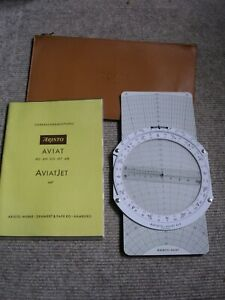 Rechenscheibe  /  Flugrechner ARISTO - AVIAT Nr. 617 mit Anleitung u. Etui