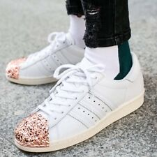 ADIDAS SUPERSTAR 80'S 3D METAL TOE WHITE ROSE GOLD WOMENS TRAINERS SHOE UK 5.5