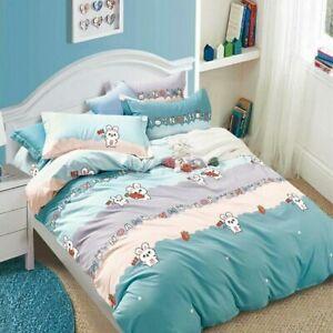 Bedding Set Cotton Bed Linen Couple Bed Sheet Twin Full Duvet Cover Pillowcase