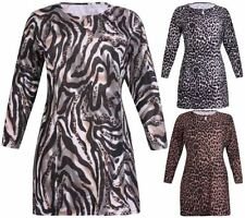Leopard Scoop Neck Tops & Shirts for Women