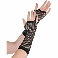 LONG FINGERLESS FISHNET GLOVES-BLACK COLOUR.