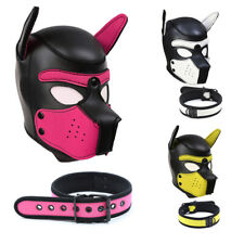 Collare e Cappuccio da CANE Puppy Play Hoods Set Bondage e Bdsm Travestimento
