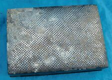 Old antique bidri box real silver inlay indian floral design handcrafted piece