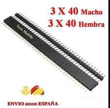 3 Tira de 40 Pines Macho + 3 Hembra Conector Pin Paso Female Arduino Electrónica