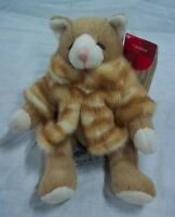 "Russ CATALINA THE CAT IN FUR COAT 4"" Plush STUFFED ANIMAL Toy"