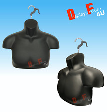 New Mannequin Male Torso Form,Free Hook Display Men Shirt Jersey Jewelry - Black
