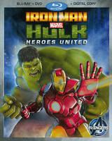 Iron Man & Hulk Heroes United Blu-ray DVD 2013 2 Disc Set with slipcover New