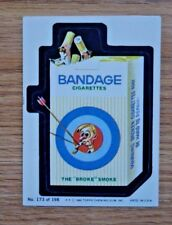 """1980 Topps Wacky Packages #173 """"Bandage Ciggarettes"""""""