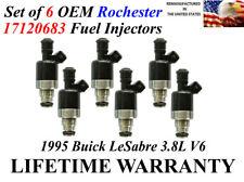 OEM Set of 6 Genuine Rochester Fuel Injectors For 1995 Buick LeSabre 3.8L V6