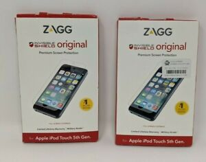 Lot of 2 - Zagg Invisible Shield Original Protection(Apple iPod Touch 5th Gen)
