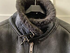 Rare Vintage Aviator Flying Sheepskin Shearling Jacket Coat