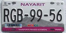 Mexico nayarit lila montañas gráfico coche matrícula-méxico matrícula