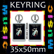 Freddie Mercury -Queen- CD#2 -KEYRING/KEY CHAIN 50 X35mm GREAT GIFT FOR A FAN