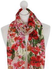 Di alta qualità sciarpa in Chiffon Primavera Estate Sciarpe Tulipano Fiore Stampa Wrap Soft
