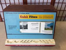 KODAK FILTERS ADVERTISING RARE WOODEN STORE DISPLAY VINTAGE W/ PULL OUT DRAWERS
