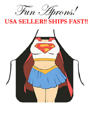 SuperGirl Super Girl Super-Girl Marvel Comic Hero Kitchen Cooking Dinner Apron