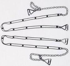 Brazilian Bra Straps Black Rhinestone Ladder Chain Brassiere Strap Replacements