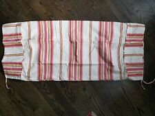 """Pottery Barn Pink Striped Bolster Pillow Sham Pair 16"""" x 26"""" plus ends NWOT"""
