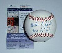 BREWERS Mike Caldwell signed baseball w/ 2-0 1982 WS JSA COA AUTO Autographed