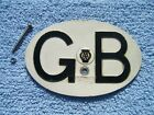 VINTAGE 1960s AUTOMOBILE ASSOCIATION TOURING BADGE-AA GB/GREAT BRITAIN CAR PLATE