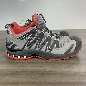 Salomon Womens 8.5 XA Pro 3D Ultra 2 Trail Hiking Sneakers Grey Low Top 128509
