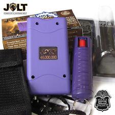 Jolt 46,000,000 Volt Mini STUN GUN, Police Magnum PEPPER SPRAY Combo SET Purple