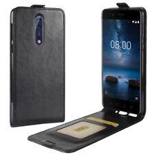 Fliptasche Premium Schwarz für Nokia 8 2017 Hülle Case Cover Schutz Zubehör Neu