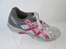 ASICS Gel Rocket Shoes Womens Sz 9.5 Pink Silver Volleyball  Sneaker B053N