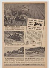 1947 Universal Jeep Willys-Overland Mag. Ad - Farm Use Featured