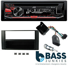 Ford S-Max 2006 On JVC Bluetooth USB CD MP3 AUX In SWC Car Stereo Black Kit