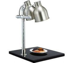 Food warmer lamp Buffet Heating Lamps  Marble Food preservation lampstand 2 head