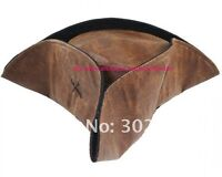 Pirate Hat Brown Captain Party Costumes Fashion Adult Accessories