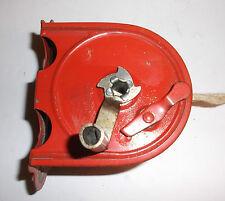 Vintage 40s INDOOR CLOTHES REEL Red Metal