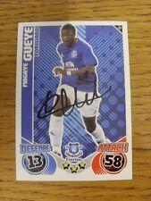 """2010/2011 AUTOGRAFO: Everton-gueye, magaye [firmato a mano """"TOPPS MATCH ATTAX 'TR"""