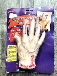 Bleeding Hand Candle Scary Halloween Party Decoration Gory Fake Blood  BNIB