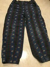 Boys size 5 Slim Osh Kosh pants plaid denim 100% cotton with jeep truck print