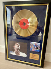 More details for robbie williams cd gold disc petsonally signed by robbie