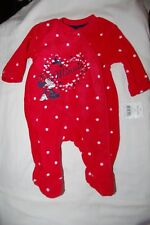 George Minnie Mouse Fleece Sleepsuit Red Spotted First Size 50-56 cm BNWT