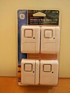GE WINDOW OR DOOR ALARM SENSORS - 4PK - 45174 NEW