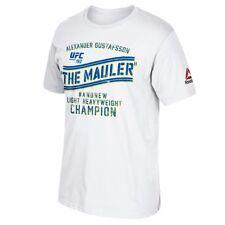 "Alexander Gustafsson UFC Reebok White ""The Mauler"" Graphic Print T-Shirt"