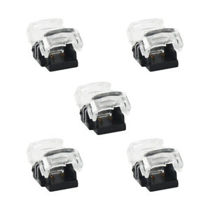 5PCS 2Pin 8mm LED Connector Strip to Strip Connection For Single Color Strip UK