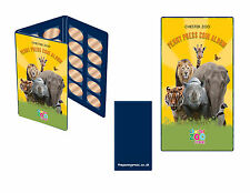 Pressed Penny Collection Book Elongated Coin Album Chester Zoo + 2 x Coins