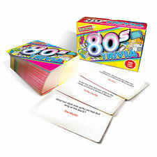 NEW AWESOME 80S TRIVIA CARD GAME PUZZLE RETRO QUIZ NOVELTY PARTY DECADE FAMILY