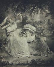 Mezzotint Figures Original Art Prints