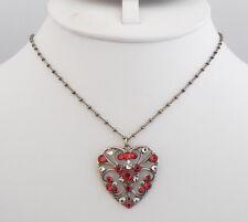 NWT ANNE KOPLIK SWAROVSKI CRYSTAL RED HEART NECKLACE